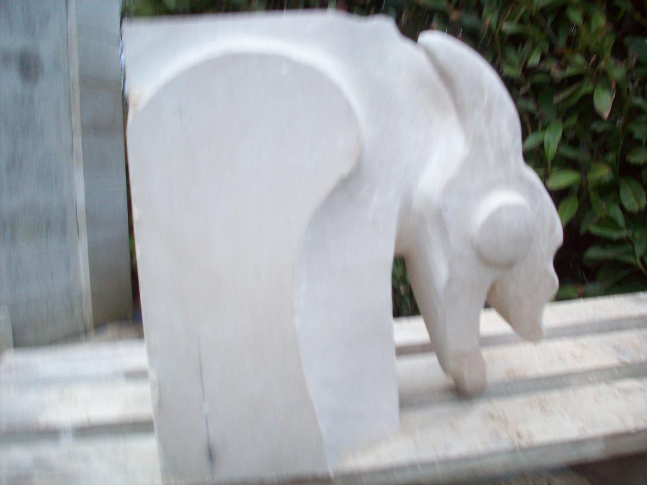 Avancement de la sculpture,