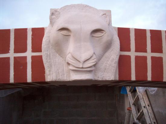 Tête de lion.