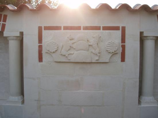 Vue du mur intérieur allégorie du zodiaque