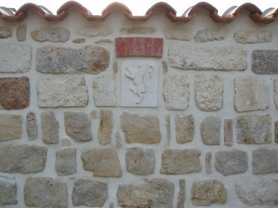 Vue du mur intérieur de la propriété