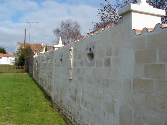 Vue du mur extérieur