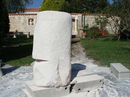 Sculpture en cours de réalisation